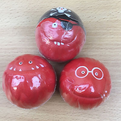 Red Nose Day Comic Relief 2011 complete set of 3 Monster Noses NEW & SEALED #18
