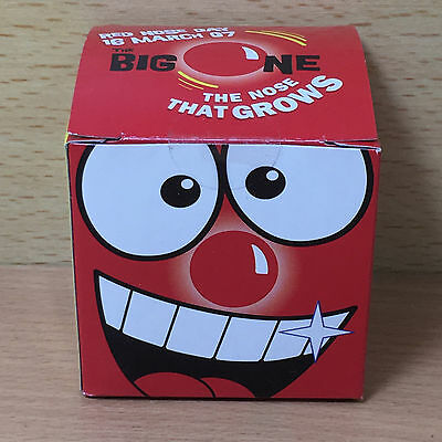 Rare NEW SEALED 2007 Red Nose Day Comic Relief nose - 'The Nose That Grows' #25