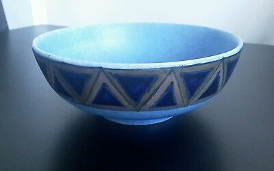 George Clews & Co Chameleon Ware Art Deco Bowl  -  Blue