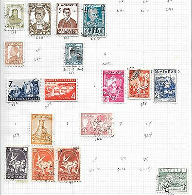 Bulgaria. 1920S/30S. 17 Stamps On Old Page, Mint, Used And Unused Without Gum.