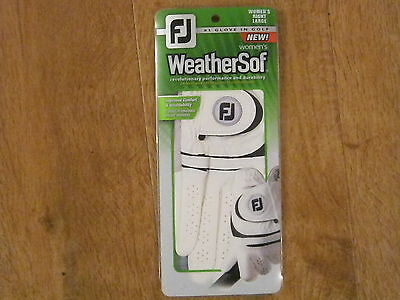 FootJoy Women's Weathersof R/H Golf Glove (LARGE) **NEW** CLEARANCE SALE
