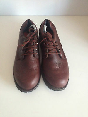 Mens M&S Active Leather Stormwear Brown Shoes - UK 10