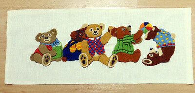 Beautifully Stitched Tumbling Teddy Bears Longstitch Sampler