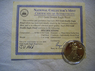 1933 Gold Double Eagle Proof Coin