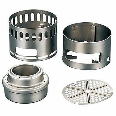 EVERNEW alcohol stove stand DX set EBY255 Japan NEW F/S Titanium H1731