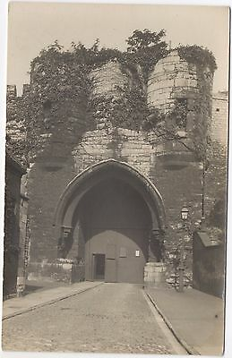 Real Photo Postcard Unknown Location Castle Entrance Tower Barbican Where ?