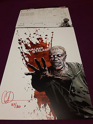 London Walker Stalker Hand Signed&Numbered Charlie Adlard Print The Walking Dead