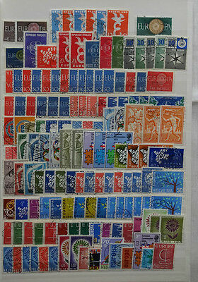 Europe Europa Cept Collection Of Approx 300 Stamps Vfu, Excellent
