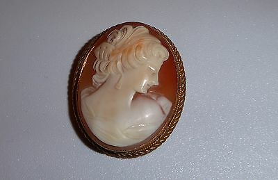 9ct Halmarked Gold Cameo Brooch