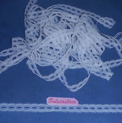 10 metres of  White  Eyelet Lace    15 mm Wide