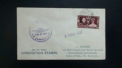 1937 West Coast Air Services Coronation Flight First Day Cover