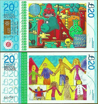 """England/Bristol  £20 Banknote """"Wallace & Grommit"""".The UK's most colourful note ?"""