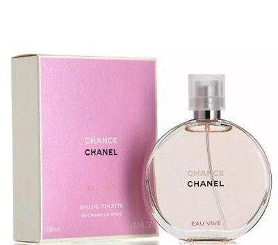 Chanel Chance Eau Vive EDT Spray 50ml For Her Brand New Sealed Box 100% Original