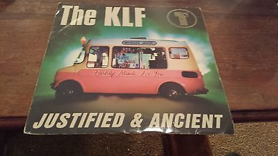 "The KLF - Justified & Ancient - 7"" Vinyl In Picture Sleeve."