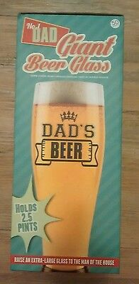 Giant Beer 2.5 Pint Glass Novelty Dad Gift Birthday Present Fathers Day Drinking