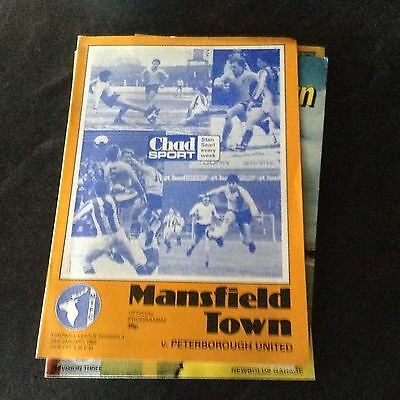 Mansfield Town V Peterborough United. 23/1/82
