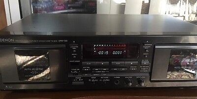 VintagE DENON  DRW-580 Dual Cassette Deck Player Recorder Auto Revers Works