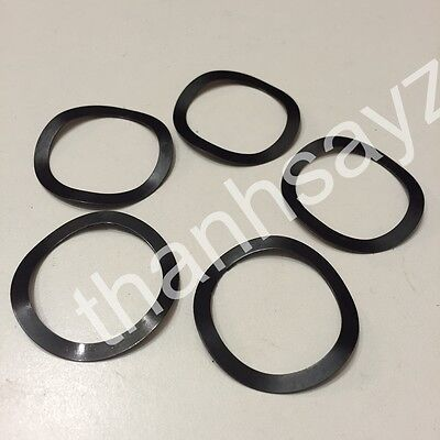 """Wave Spring Maglite D Cell Solvent Trap Washer  Steel 1.351"""" OD Set of 5"""