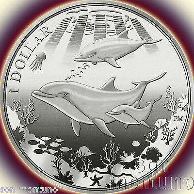 2014 DOLPHIN - $10 Sterling SILVER PROOF Coin in BOX+COA British Virgin Islands
