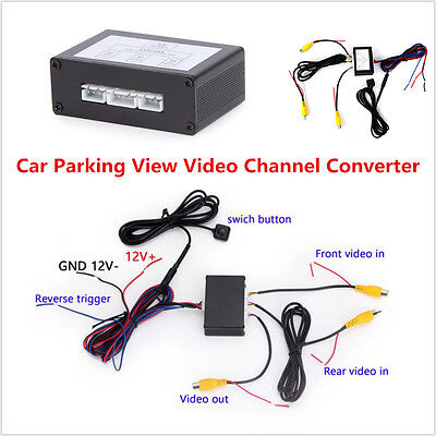 Auto Car Front Rear Parking View Camera Switch 2 Channel Control Box Converter