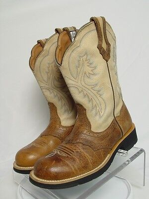 ARIAT FATBABY SHOWBABY Women 8.5-B Brown Leather Western Horse Cowboy Boots