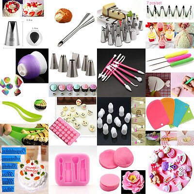 Russian Cake Icing Piping Nozzles Tips Kit Set Converter Mould Sugarcraft Tool J