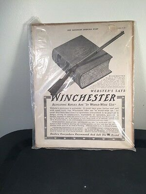 WINCHESTER MODEL 1894 94 Lever Action Rifle Vintage Advertising 1913 Full Page