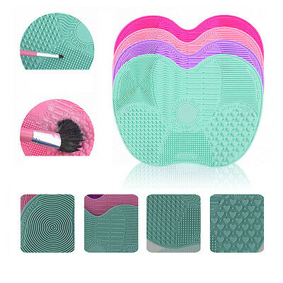 Convenient Makeup Cosmetic Brush Cleaner Mat Cleaning Scrubber Board Pad