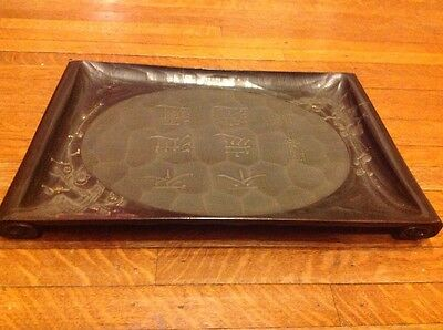 Vintage Wood Japanese Chinese Asian Aesthetic Movement Tray