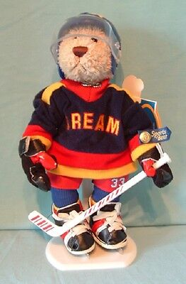 Flash Sports Bear Ice Hockey DREAM Brass Button Bears with Tags 2001 #33