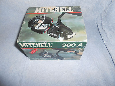 Vintage Garcia Mitchell 300A Spinning Fishing Reel in Original Box FRANCE & BOOK