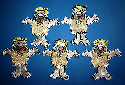 5 Lot The Flintstones Barney Rubble Iron On Hat Jacket Hoodie Backpack Patches