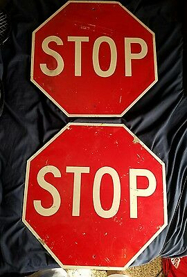 2 REAL ROAD SIGNS, STOP, 18 X 18, great for mancave, bar, garage.....