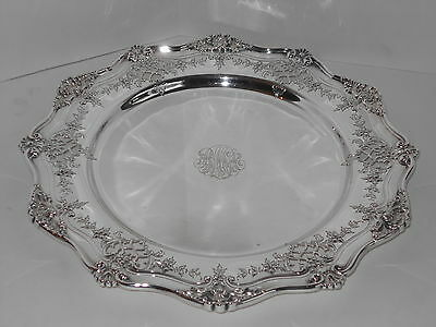 Antique Dominic & Haff Sterling Silver Ornate 11 In Dessert Tray 514Gms