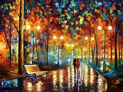 "RAIN'S RUSTLE   —  Oil Painting On Canvas By Leonid Afremov - Size:40""x30"""