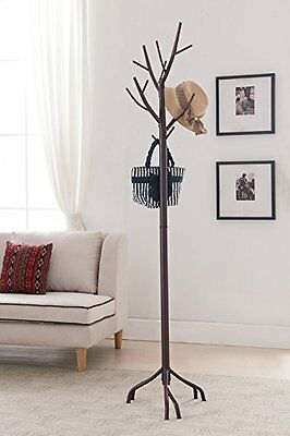 NEW Kings Brand Bronze Finish Metal Hall Tree Coat & Hat Rack with Branches