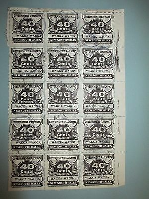 40 cent New South Wales  Railway Parcel Stamps