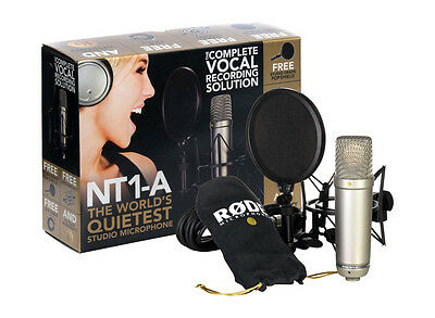 Rode NT1-A Microphone Bundle (Includes Shockmount, Pop Filter, Cable) - NEW!