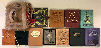 Harry Potter's School Books (12!) + Hogwarts Acceptance Letter!  **Handcrafted**