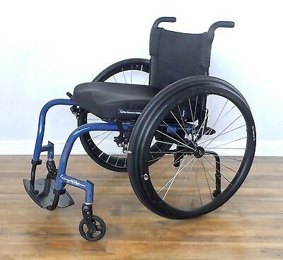 Quickie GT wheelchair -- with Natural Fit push rims, like tilite zra - 18x16