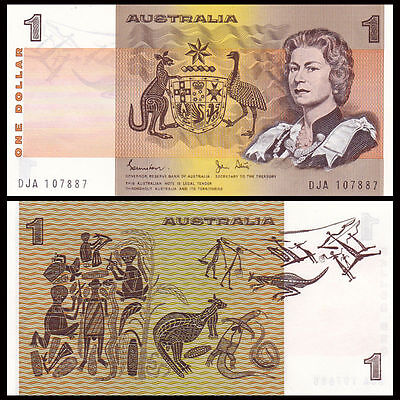 Australia One Dollar, 1983, Uncirculated Crisp Bank Note