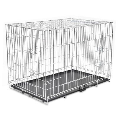 Dog Cage Crate Pet Kennel Puppy Cat Rabbit Metal Collapsible House M/L/XL/XXL