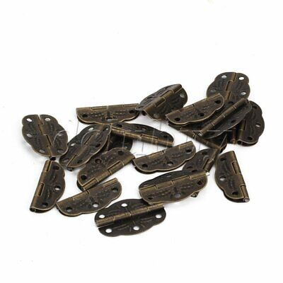 20pcs Home Decorative Mini Hinges Vintage Replacement 1.2x0.8inch