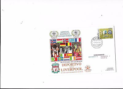 Dawn Postal Cover Deportivo  v Liverpool UEFA Champions league 3/11/2004