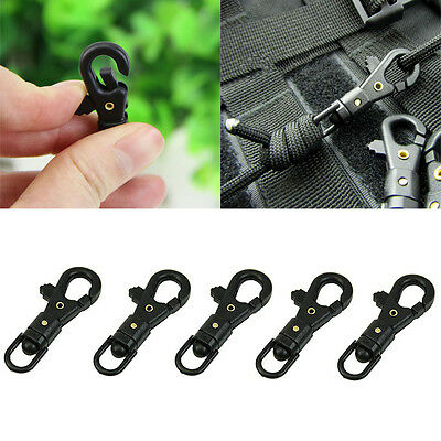 10 PCS/PACK Survival Carabiner Rotatable Buckle Quickdraw Key Chain EDC Tool