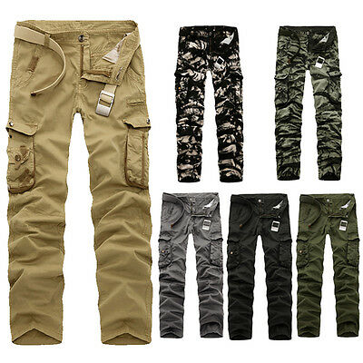 News Combat Men's Cotton Cargo ARMY Pants Military Camouflage Camo Trousers