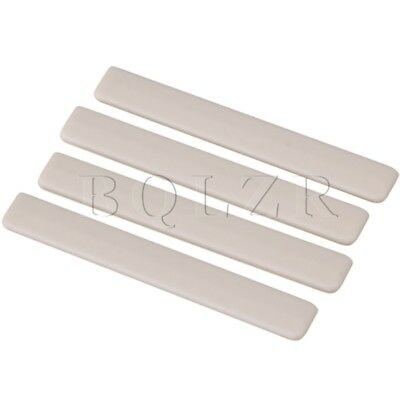 Ukulele Guitar 5.3x0.3x0.7cm Beige Plastic Saddles Replacement Pack of 4