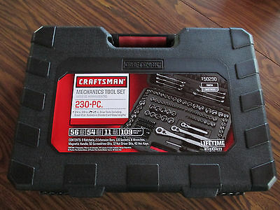 Craftsman 230-Piece Standard and Metric Mechanic's Tool Set free priority ship