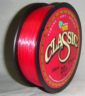 Platypus Classic 20lb x 300m Mono Line - Red *New in Packaging*