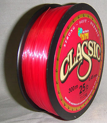 Platypus Classic 25lb x 300m Mono Line - Red *New in Packaging*